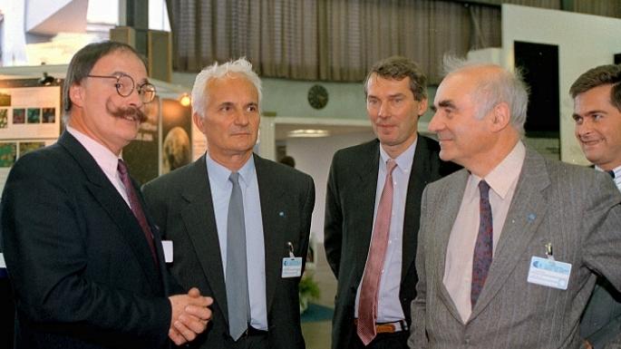 Le Ministre Hubert Curien à Kourou
