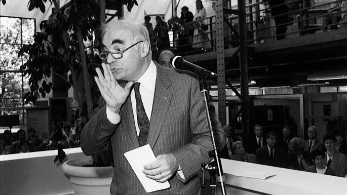 Inauguration du GUC (Groupement des unités de communication) à Meudon, 3 juillet 1990