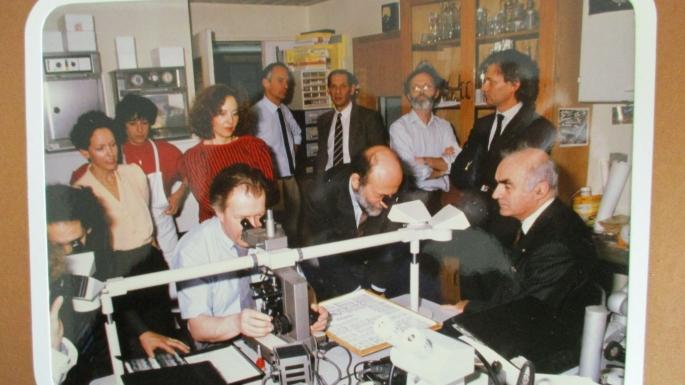 Lancement du programme « génome humain » au palais de la Découverte, 17 octobre 1990